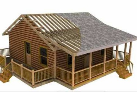 Log Cabin. The logs or timber to be used should be of good quality and from