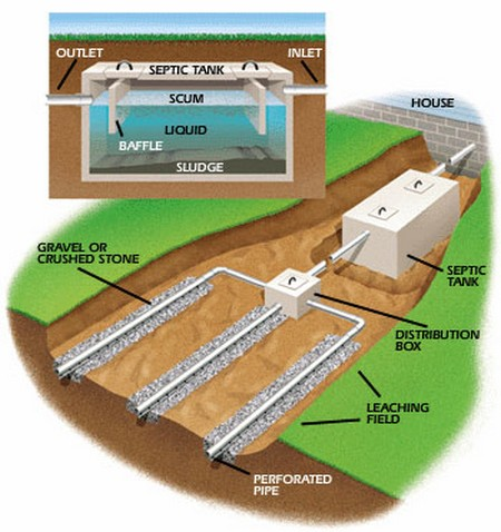 how a septic tank works diagram